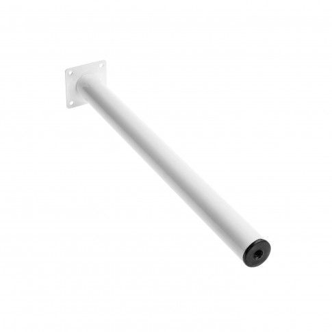 Picior mobila, pentru masa, alb, rotund, 400 mm