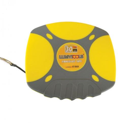 Ruleta cu banda din fibra de sticla, Lumytools LT12523, 30 m