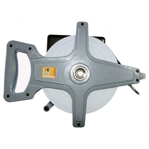 Ruleta  cu banda din fibra de sticla, Lumytools LT12535, 50 m