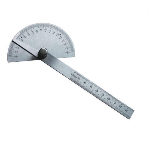 Echer reglabil, tip raportor, din inox, Lumytools LT18373, 200 mm