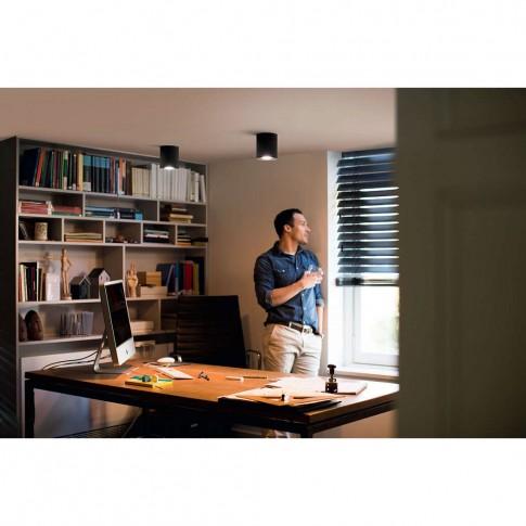 Spot LED Hue Pillar 5633030P7, 1 x GU10, 5.5W, lumina calda / rece, orientabil, negru + variator