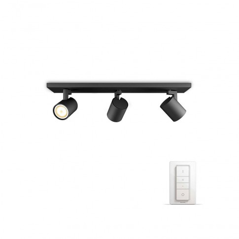 Plafoniera LED Hue Runner 5309330P7, GU10, 3 x 5.5W, negru