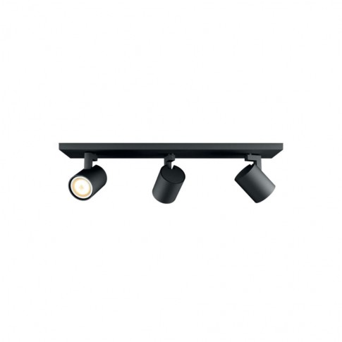 Plafoniera LED Hue Runner 5309330P7, GU10, 3 x 5.5W, 3 x 250 lm, lumina calda / rece, neagra + variator