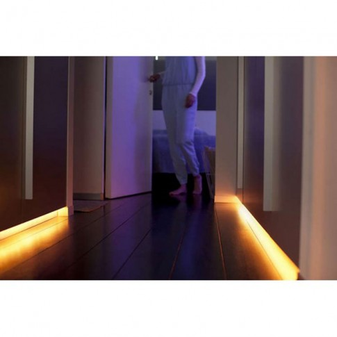 Banda LED adeziva Philips Hue 7190155PH lumina alba si colorata 2 m IP20 + adaptor