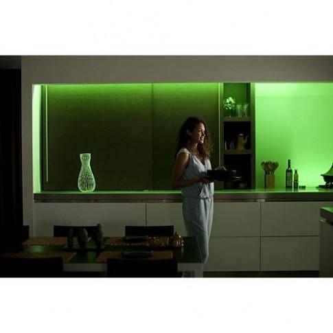 Extensie Banda LED RGB adeziva Philips Hue 7190255PH, lumina calda / rece / multicolora, 1 m, IP20