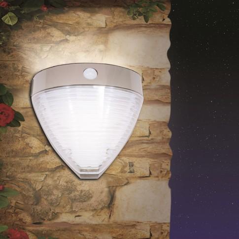 Aplica solara LED Hoff, 2.2W, cu senzor de miscare, dispersor transparent