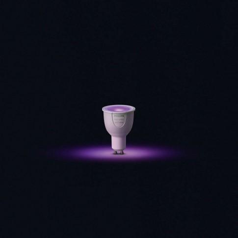 Bec LED Philips Hue spot GU10 6.5W lumina calda / rece, dimabil