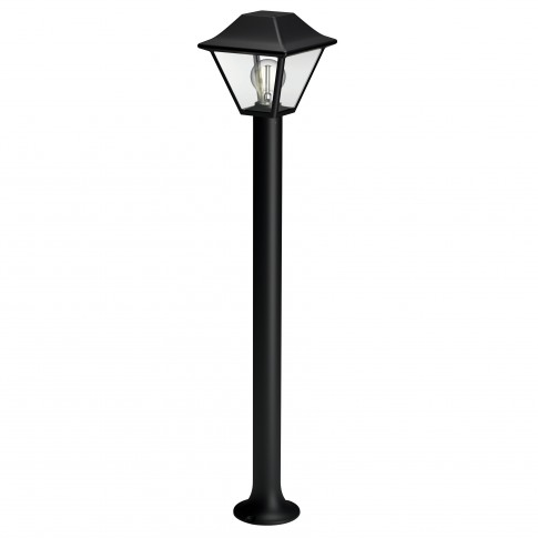 Stalp de iluminat ornamental Alpenglow 1649730PN, 1 x E27, H 90 cm, negru