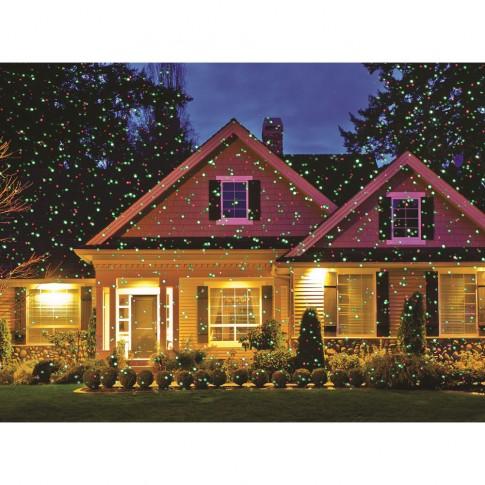 Proiector laser Craciun, exterior / interior, Hoff 58740001, rosu + verde