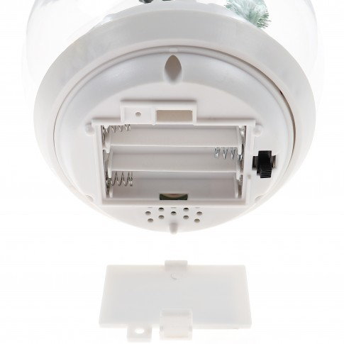 Decoratiune muzicala glob LED, alimentare baterii