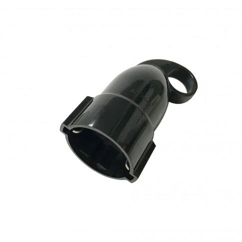 Cupla impamantare cu inel Hoff Line, policarbonat, IP20, neagra, cu protectie copii, 16 A, 250 V