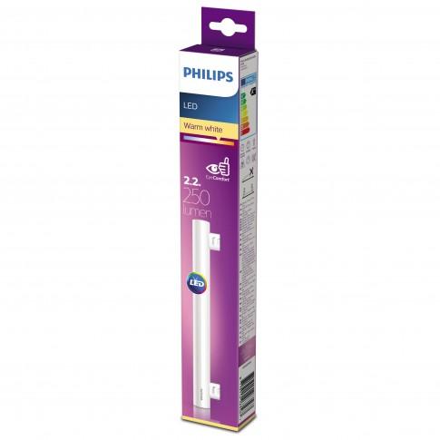 Bec LED Philips liniar S14S 2.2W 250lm lumina calda 2700 K