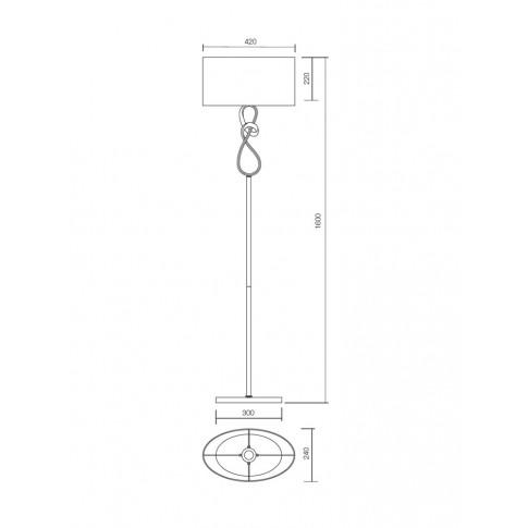 Lampadar Wanda 01-1059, 1 x E27, 1600 mm, alb
