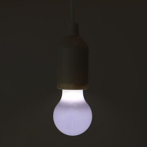 Lampa LED PLZ 1/WH, cu fir 1 m, 0.1W, alimentare baterii