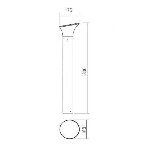 Stalp de iluminat ornamental Bergen DG 9039, 1 x E27, 80 cm