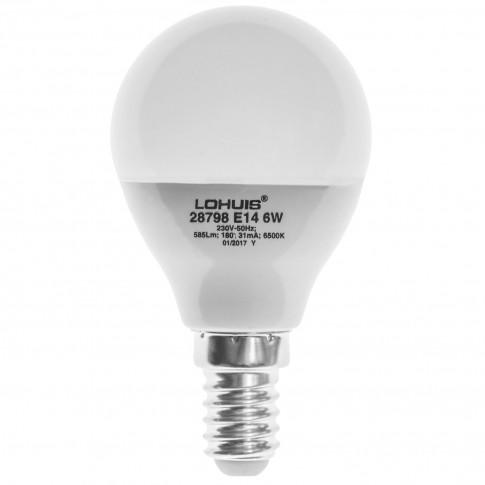 Bec LED Lohuis mini E14 6W 585lm lumina rece 6500 K, dimabil