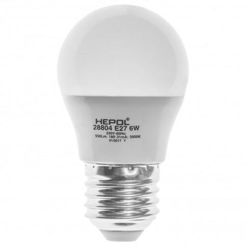 Bec LED Hepol mini E27 6W 550lm lumina calda 3000 K, dimabil
