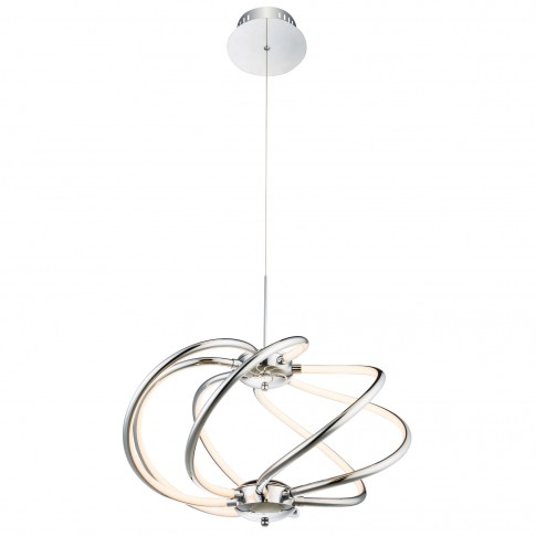 Suspensie LED Wave 67823-40H, 40W, argintie