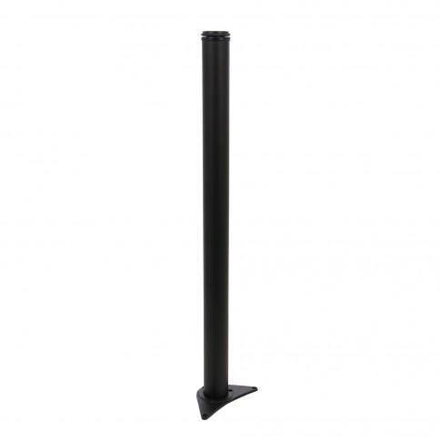 Picioare  mobila, pentru masa, reglabile, metalice, negre, rotunde, 710 mm, set 4 bucati