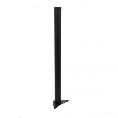 Picioare  mobila, pentru masa, reglabile, metalice, negre, rotunde, 870 mm, set 4 bucati