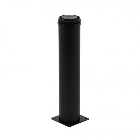 Picioare mobila, universale, reglabile, metalice, negre, rotunde, 300 mm, set 4 bucati