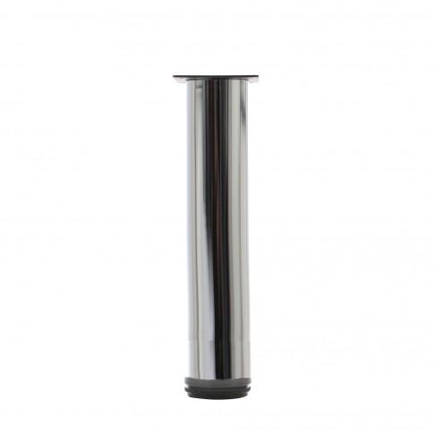 Picioare mobila, universale, reglabile, metalice, cromate, rotunde, 300 mm, set 4 bucati