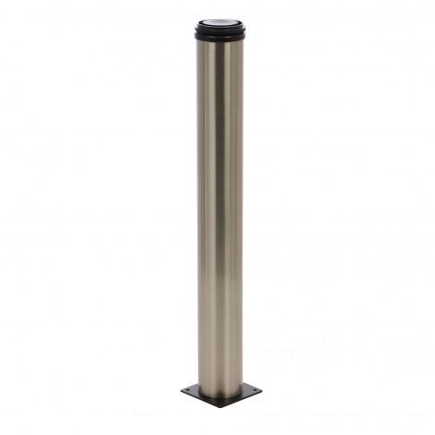 Picioare mobila, universale, reglabile, metalice, nichelate, rotunde, 300 mm, set 4 bucati