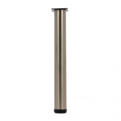 Picioare mobila, universale, reglabile, metalice, nichelate, rotunde, 500 mm, set 4 bucati