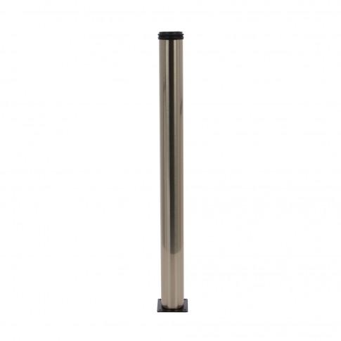 Picioare mobila, pentru masa, reglabile, metalice, nichelate, rotunde, 710 mm, set 4 bucati