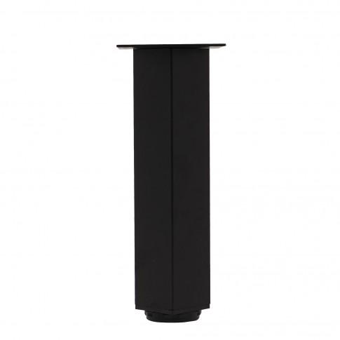Picioare mobila, universale, reglabile, metalice, negre, patrate, 300 mm, set 4 bucati