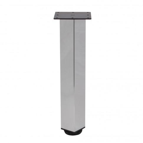 Picioare mobila, universale, reglabile, metalice, cromate, patrate, 300 mm, set 4 bucati