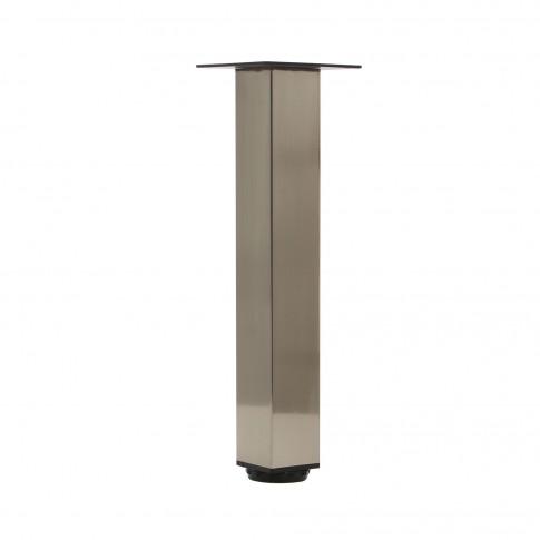 Picioare mobila, universale, reglabile, metalice, nichelate, patrate, 300 mm, set 4 bucati