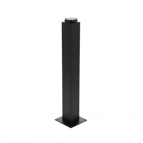 Picioare mobila, universale, reglabile, metalice, negre, patrate, 400 mm, set 4 bucati