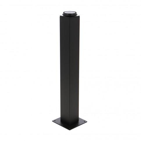 Picioare mobila, universale, reglabile, metalice, negre, patrate, 500 mm, set 4 bucati