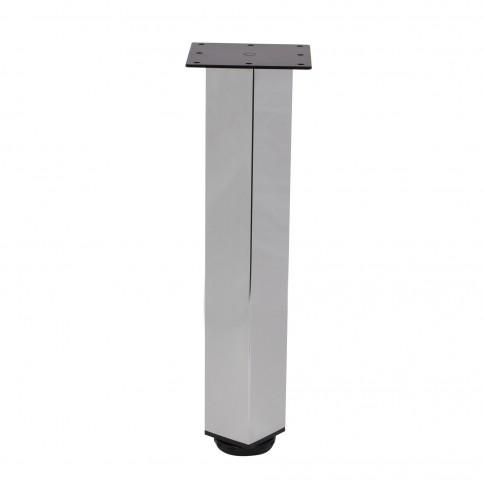 Picioare mobila, universale, reglabile, metalice, cromate, patrate, 500 mm, set 4 bucati