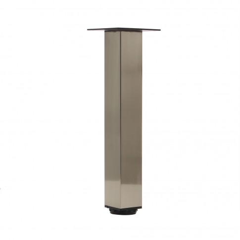 Picioare mobila, universale, reglabile, metalice, nichelate, patrate, 500 mm, set 4 bucati
