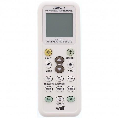 Telecomanda universala pentru aer conditionat, Well rc-ac-airload-wl, alba