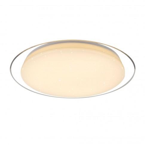 Plafoniera LED Optima 41310-30, 30W, lumina calda / rece, alb + satin