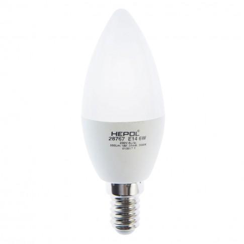 Bec LED Hepol lumanare E14 6W 550lm lumina calda 3000 K, dimabil