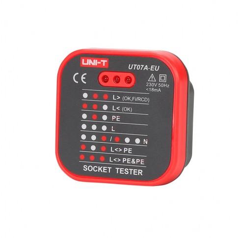 Tester priza EU, LED, Uni-t Socktest-UT07A