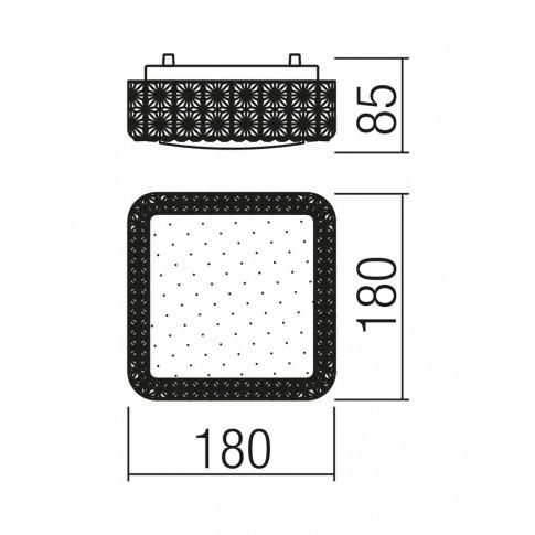 Plafoniera LED Tetris 05-844, 12W, lumina neutra, alba