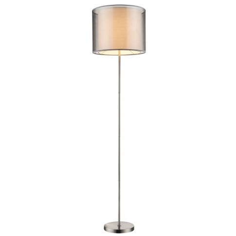 Lampadar Theo 15190S, 1 x E27, 1600 mm, nichel mat + gri