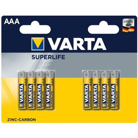 Baterie Varta Superlife 2003, AAA / LR3, zinc - carbon, 8 buc