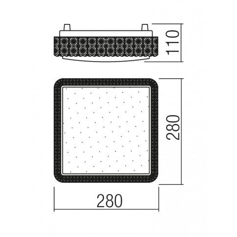 Plafoniera LED Tetris 05-845, 16W, lumina neutra