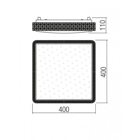 Plafoniera LED Tetris 05-846, 24W, lumina neutra, alba