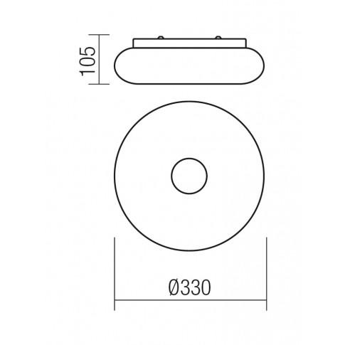 Aplica LED Jade 01-1173, 12W, alba
