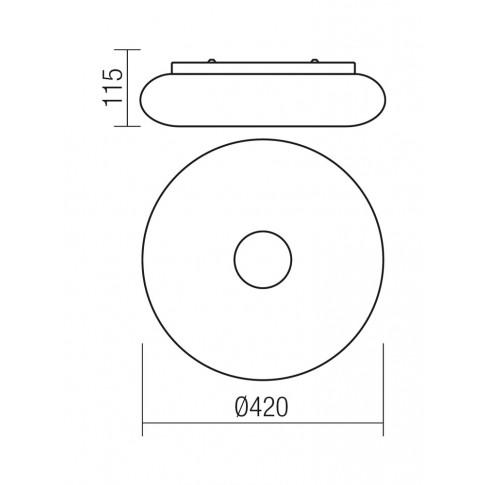 Plafoniera LED Jade 01-1174, 18W, alba
