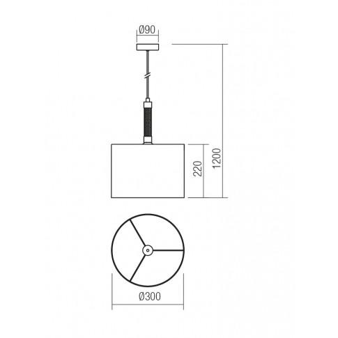 Suspensie Astrid 01-1177, 1 x E27, argintie