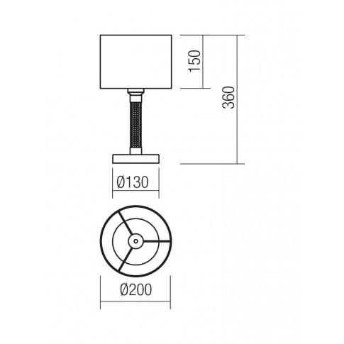 Veioza Astrid 1-1178, 1 x E27, argintie