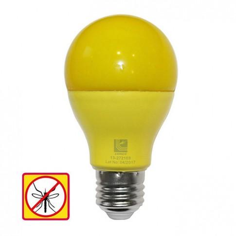 Bec LED color Adeleq Lumen 06-728/G clasic E27 10W lumina galbena, antiinsecte